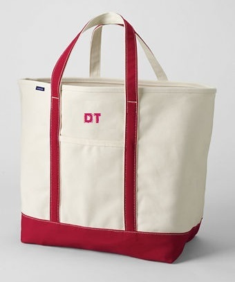Land's End Large Tote bag.  8-13  $46 - website