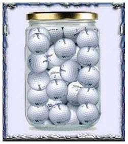 jar of golf balls.  5-14